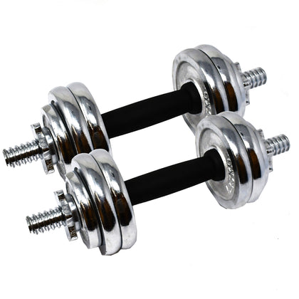 Cast Iron Adjustable Dumbbell Set for Home Gym - 33 lbs (15 kg)