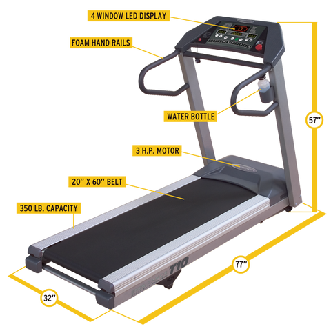 Body Solid Endurance Commercial Treadmill T10HRC