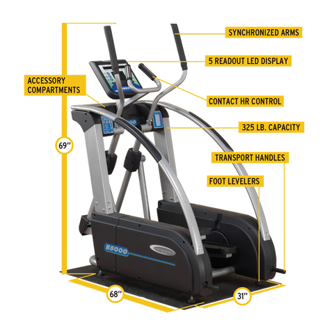Body Solid Endurance Premium Elliptical Trainer E5000