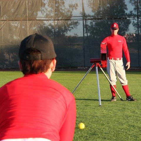 Heater Real Ball Combo Pitching Machine For Baseball And Softball - Pitch Pro Direct