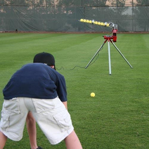 Heater Real Baseball Pitching Machine With Auto Ballfeeder - Pitch Pro Direct