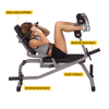 Image of Body Solid Horizontal Ab Crunch Bench Machine GAB100