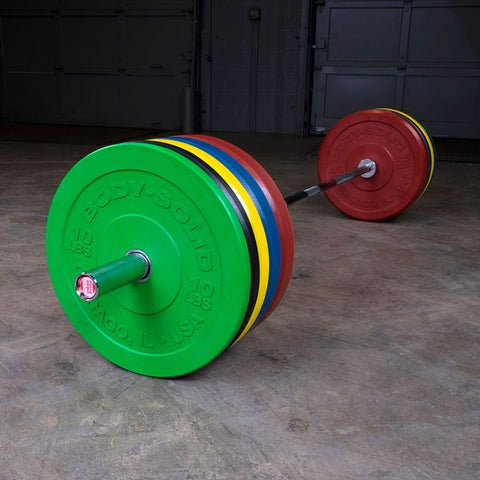 Body Solid Chicago Extreme Colored Bumper Plates OBPXC