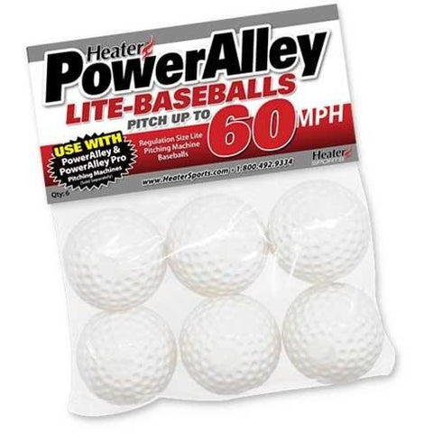 PowerAlley 60 MPH White Lite Baseballs