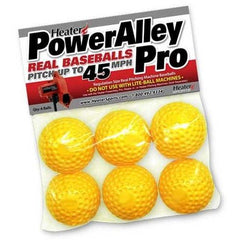 PowerAlley Pro Yellow Dimple Real Pitching Machine Baseballs