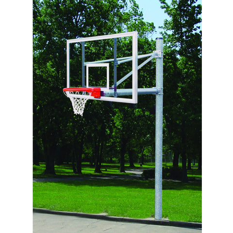 "Gared Heavy Duty 5-9/16"" O.D. Straight Post Basketball Package"