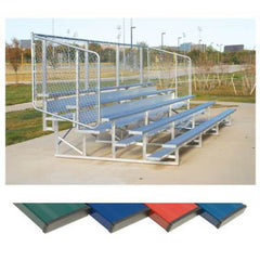 Powder Coated Aluminum Bleachers With Fencing - Pitch Pro Direct