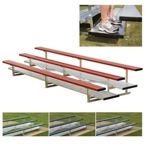 Preferred Powder Coated Bleachers with Chain Link Fencing