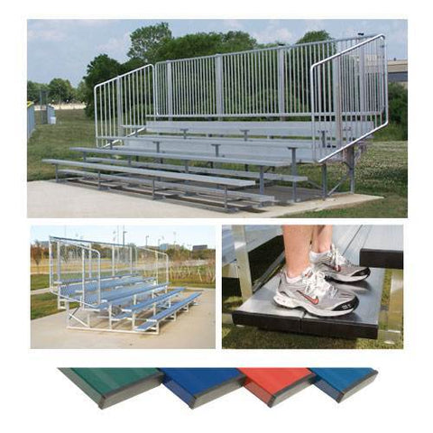 Preferred Powder Coated Bleachers with Vertical Picket Railing