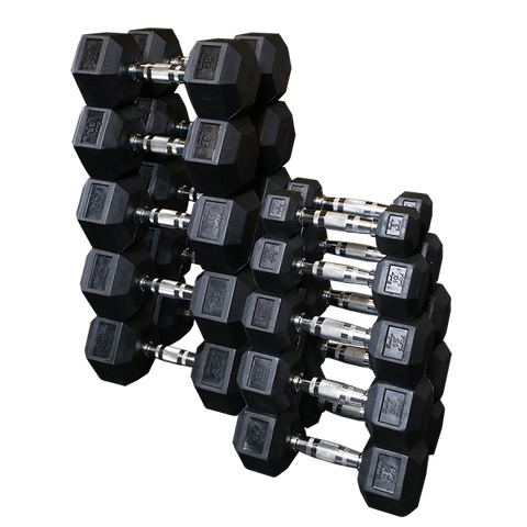 Body Solid Rubber Coated Hex Dumbbell Sets SDRS