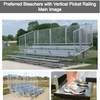 Image of Aluminum Preferred Bleachers with Safety Railing - Pitch Pro Direct