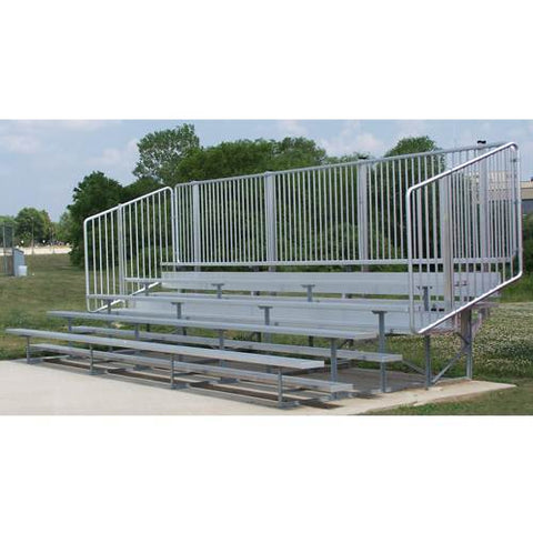 VIP Series Bleachers with Vertical Picket Railing