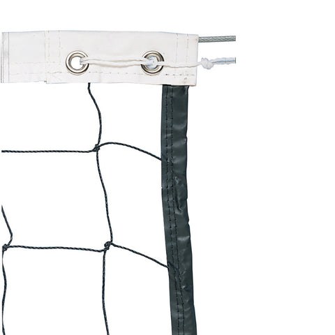 Trigon Sports Vinyl Volleyball Net W/ Steel Cable Top & Nylon Roped Bottom