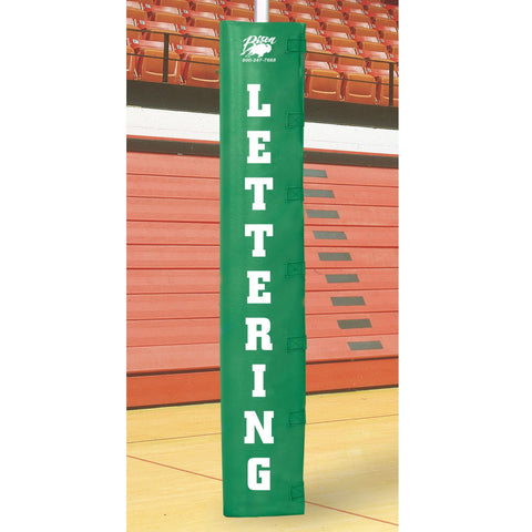 Bison Volleyball Post Padding with 4-Sided Lettering - Pitch Pro Direct