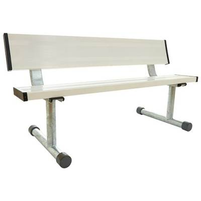 5' Court Side Aluminum Bench