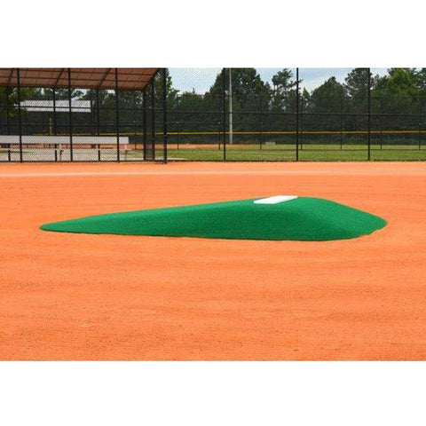 allstar youth 12u pitching mound in green side view