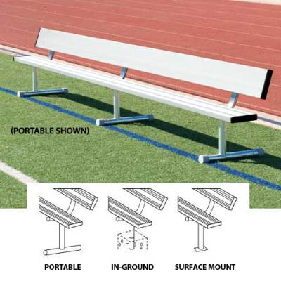 Player's Bench Without Back Planks