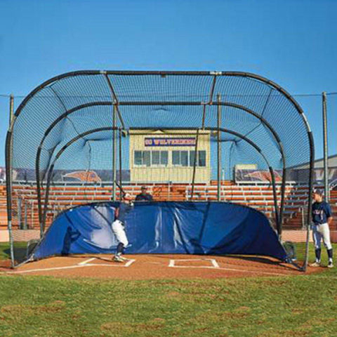 big bubba elite backstop front view with batter