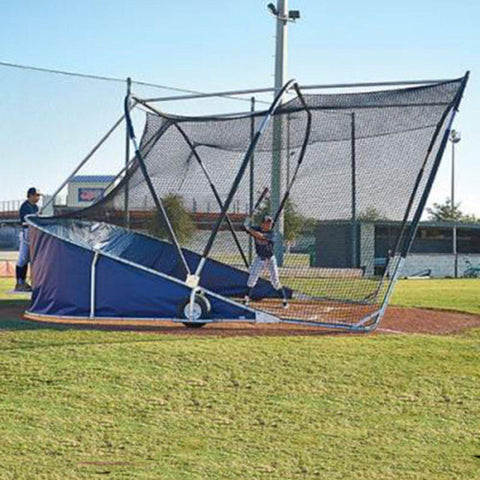 big bubba elite backstop side view with batter