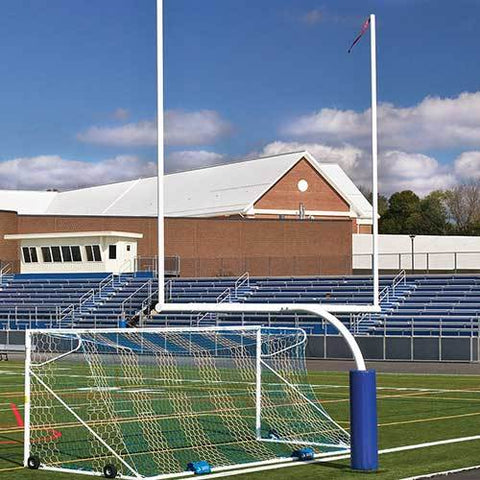 JayPro 5'Ox20'U Steel Football Goal Post Semi/Perm – High School