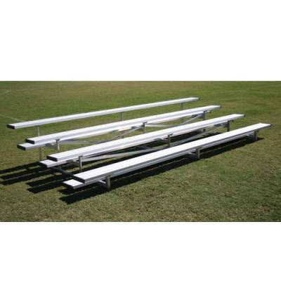 Four Rows Low Rise Aluminum Bleachers