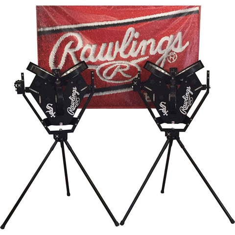rawlings pro line 3 wheel pitching machine side by side view