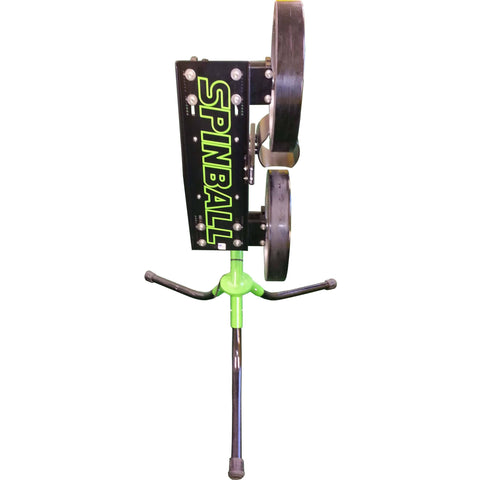 Spinball 2 wheel pitching machine for softball top view