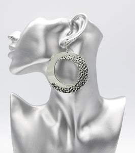 Statement Metal Hoop Earrings