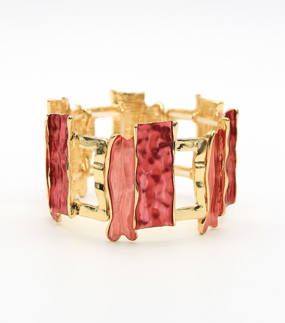 Enamel Stretch Bangle Bracelet
