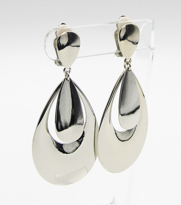 Metal Drop Clip-on Earrings
