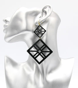 Geo Statement Painted Fashion Earrings