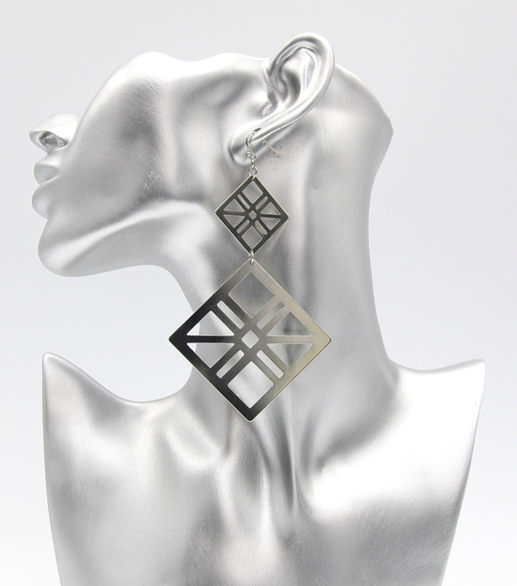 Geo Statement Metal Fashion Earrings