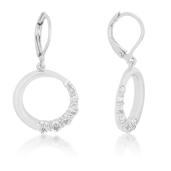 Graduated Cubic Zirconia Circle Earrings