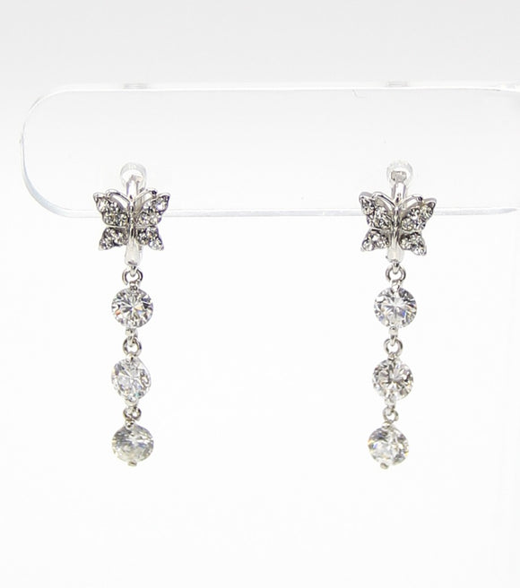 Dainty Butterfly Drop Earrings