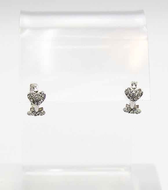 Hart And Star Dainty Crystal Earrings