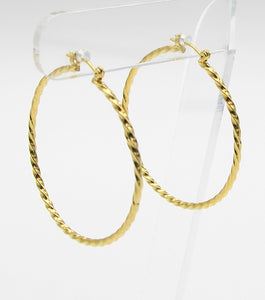 Texture Metal Hoop Earrings