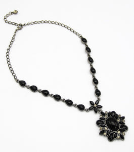 Crystal Pave Pendant Necklace