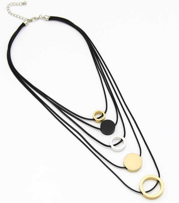 Neo-Geo Circa Layered Necklace