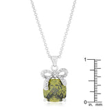 Olivine Pendant with Bow