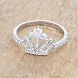 Elina 0.36ct CZ Rhodium Simple Crown Ring