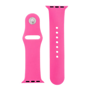 Hot Pink Silicone Sports Watch Band 42mm