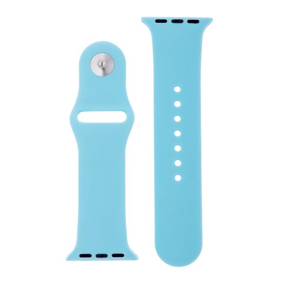 Soft Blue Silicone Sports Watch Band 38mm