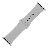 Light Grey Silicone Sports Watch Band 38mm