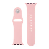 Pale Pink Silicone Sports Watch Band 42mm