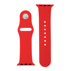Cherry Red Silicone Sports Watch Band 38mm