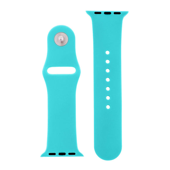 Totally Turquoise Silicone Sports  Watch Band 42mm