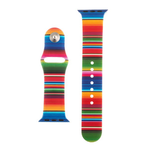 Rainbow Silicone Sports Watch Band 38mm