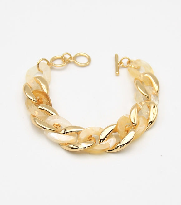 Cuban Lutie Links Toggle Bracelet