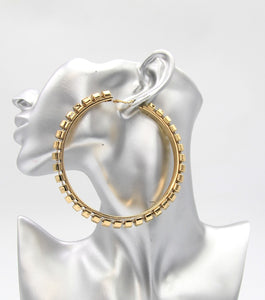 Metal Oversized Hoops Earrings