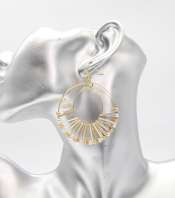 Metal Statement Hoop Earrings